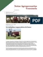 Notas Agropecuarias Venezuela