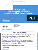 Introduction of Guidelines for the Establishment of Sector Specific Standardized Baselines