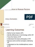 GENS5001 Human Factors 2011