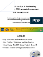Project Analysis to Identify Reasons for Delay in Validation and Issuance and Propose Practical Solutions to the CDM EB