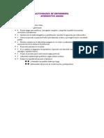 Actividades de Enfermeria en Apendicitis Aguda
