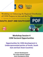 CDM Sectoral Opportunities for South-Southeast-East Asia