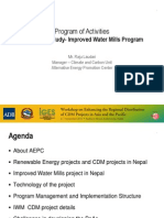 Promotion of the Improved Water Mills in Nepal