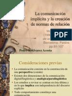 La comunicación implícita y la creación de normas