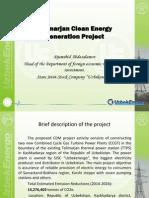 CASAREM Talimarjan Power Generation and Transmission Project