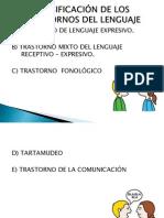 CLASIFICACIÓN DE LOS TRASTORNOS DEL LENGUAJE