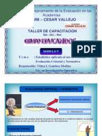 Evaluación Criterial y Normativa