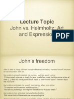 John, Helmholtz and Art