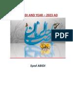 Mahdi Zahoor in 2023 AD
