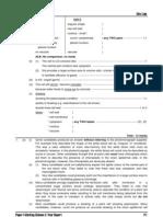 1991 Biology Paper I Marking Scheme
