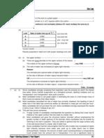 1997 Biology Paper I Marking Scheme