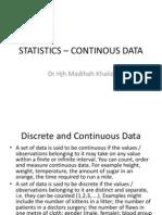 STAISTICS – CONTINOUS DATA