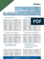 Training Calendar q4