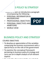 Business Policy & Strategy Course Intro