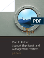 RAN - Plan to Reform Support Ship Repair and Management Practices