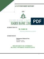 Final Report of Internship