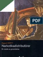BRÅ - Narkotika distributörer 2007