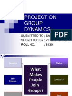Project on Group Dynamics 2