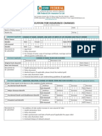 Application for Insurance Changes