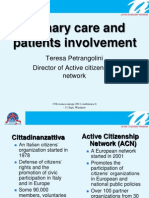 Primary care and patients involvement