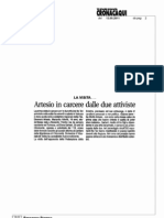 Artesio in carcere dalle due attiviste - ToCronaca 13/09/2011