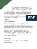 Philippine Constitution National Territory