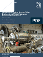 Design ion Through Value Engineering of Fluid Machinery