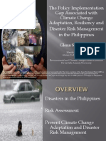 The Policy Implementation Gap Associated with Climate Change Adaptation, Resiliency and Disaster Risk Management in the Philippines by Glenn Banaguas, Ateneo De Manila University
