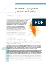 Customer Loyalty Programs - Creating Phantom Loyalty by Jens Gregersen