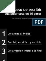 El Proceso de Escribir en 10 Pasos