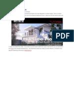 Making of Hillside House