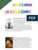 Els Recomanats de La Setmana (12 de Setembre Al 18)