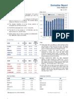 Derivatives Report 13th September 2011