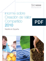 Nestlé España - Informe sobre Creación de Valor Compartido 2010