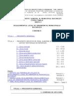 Regulamentul Local de Urbanism Bucuresti