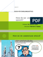 How Do Understand Speech