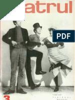 Revista Teatrul, nr. 3, anul XIV, martie 1969