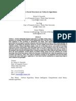 Emergent Social Structures in Cultural Algorithms