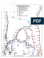Bombay Suburban Trains Map
