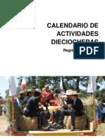 Calendario Dieciochero Región de los Ríos
