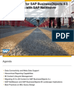 Best Practices for SAP Business Objects 4.0 in Combination With SAP Netweaver