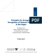 Prawer Policy Brief FINAL ENG -- by position paper written by ACRI, Bimkom, and the Regional Council of Unrecognized Bedouin Villages