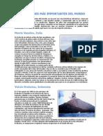 Los volcanes más importantes del mundo