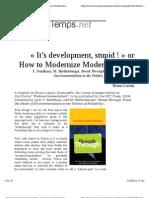 Latour It's Development Stupid