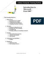 Intro Excel