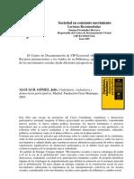 Movimientos Sociales. Lecturas.juny 2009.