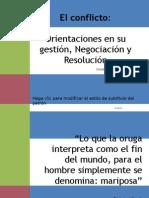 Gestión, Negociación y Resolución de Conflictos
