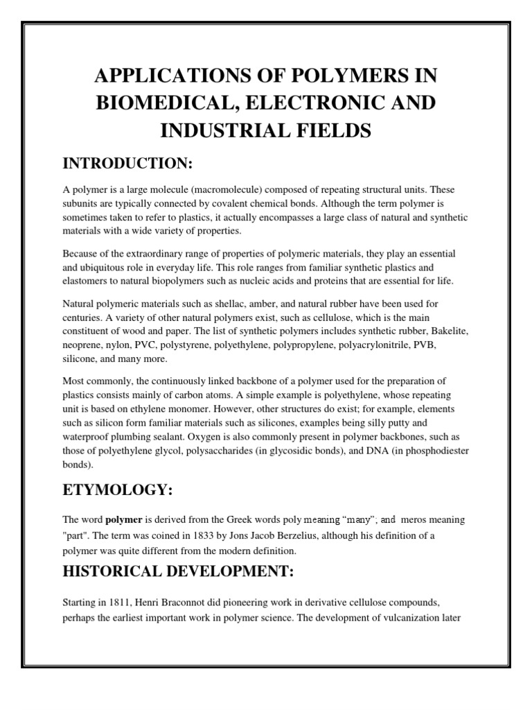term paper on polymers