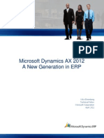 Microsoft Dynamics AX 2012-NewGenerationinERP