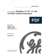 Dynamic Modeling of GE 1.5 And